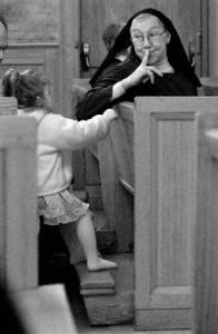 shushing nun