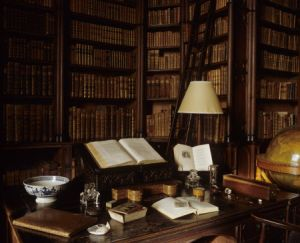 The interior of the Library at Felbrigg Hall, Norfolk